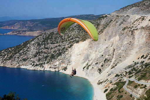 Greece, Paragliding, Summer, Travel, Activity, Air