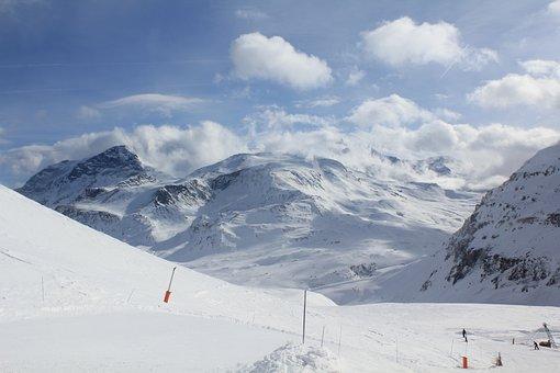 Snow, Ski, Station, Winter, Cold, Mountains, Hobbies