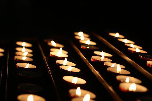 Religion, Catholic, Candles, Church, Interior