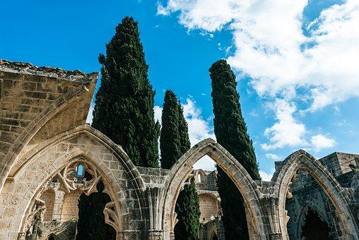 Kyrenia, Cyprus, Monuments, Monastery, Sea, Travel