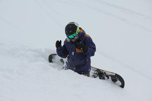 Ski, Snowboard, Snow, Winter, Mountains, Nature, Cold