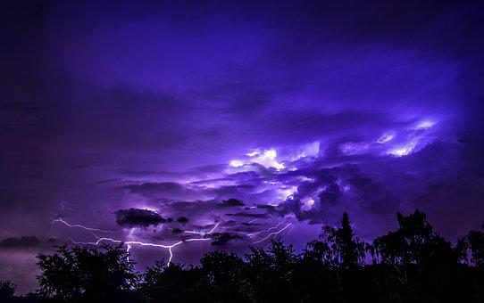 Thunderstorm, Nature, Sky, Forward, Flash, Clouds