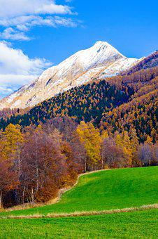 Mountain, Fall, Landscape, Nature, View, Sky, Tree