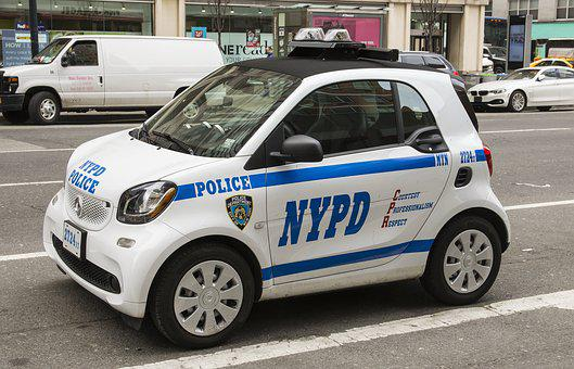 New York, Nyc, Police, Vehicle, Car, Street, Urban