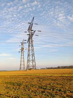 Landscape, Pylon, Pylons, Electricity, Power Poles