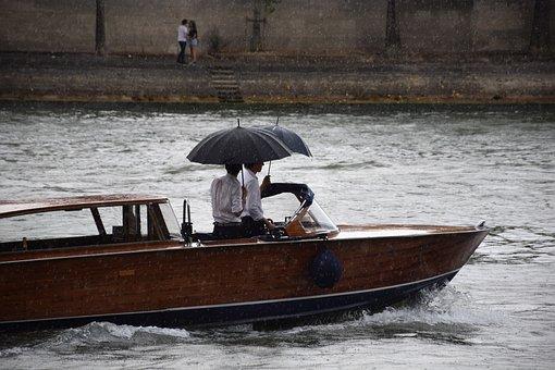Rain, Dry, Umbrella, Ship, Boat, Power, Speed Boat