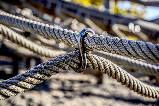 Rope, Climb, Romp, Play, Playground, Klettergerüst