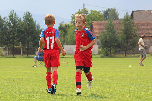 Football, Children, Teammates, Team, Rotation, Boys