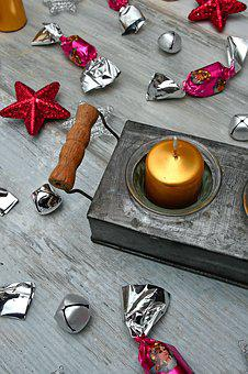 Candle, Gold, Christmas, Salon Sugar, Purple, Holiday