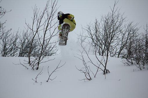 Ski, Snowboard, Winter, Snow, Mountains, Nature, Cold