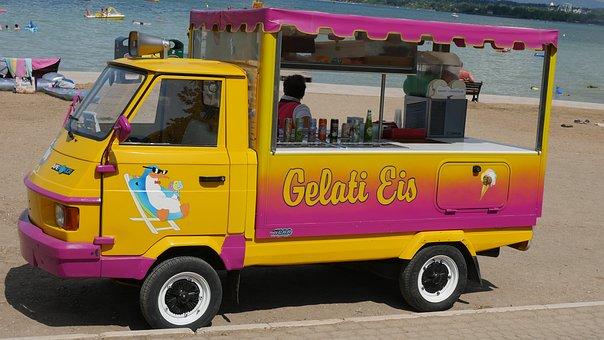 Ice, Summer, Ice Cream Vendor, Refreshment, Ice Cream