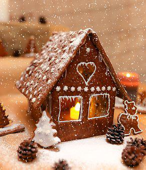Christmas, Gingerbread House, Gingerbread, Sweet