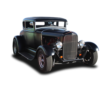 Hot Rod, Thirties, Black, Classic, Muscle