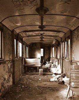 Package, Old, Vintage, Transport, Train, Disheveled