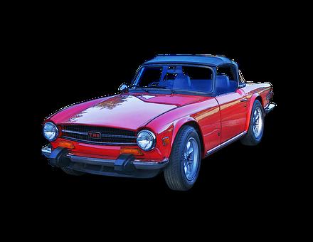 Triumph, Tr-6, Convertible, Automotive, Sports Car