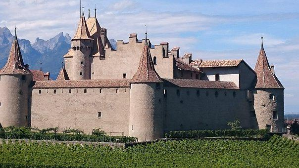 Castle, Vine, Wine, Vineyard, Landscape, Grapes