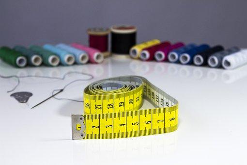 Tape Measure, Needle, Yarn, Sew, Sewing Thread