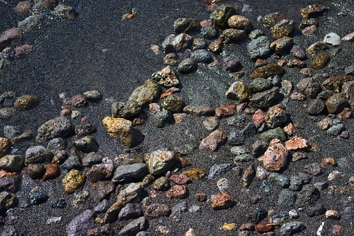 Yellowstone Lake Black Sand, Sand, Gravel, Black