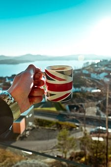 Coffee, England, View, British, Castle, English, Drink