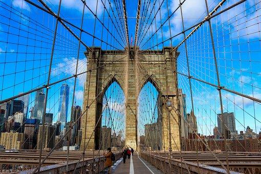 Brooklyn, Bridge, Downtown, Manhattan, Landmark