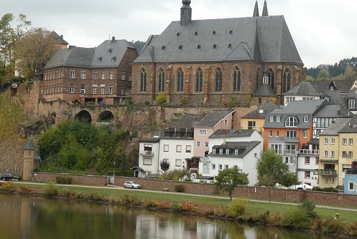 Saarburg, Cityscape, History, Building, Church, St