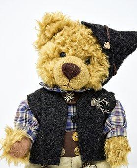 Teddy, Costume, Clothing, Funny, Cute, Bavarian