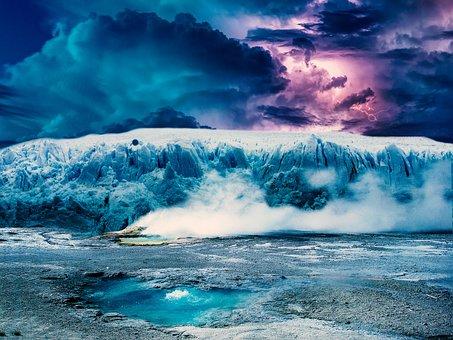 Ice, Antarctic, North Pole, Earth Ice, Cloud, Horizon
