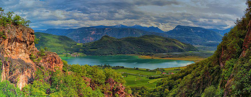 Lake, Mountains, Clouds, Nature, Landscape, Forest