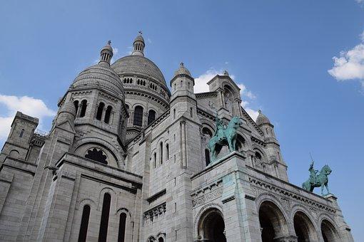 Sacre, Cœur, France, Paris, Basilica, Cathedral, Church