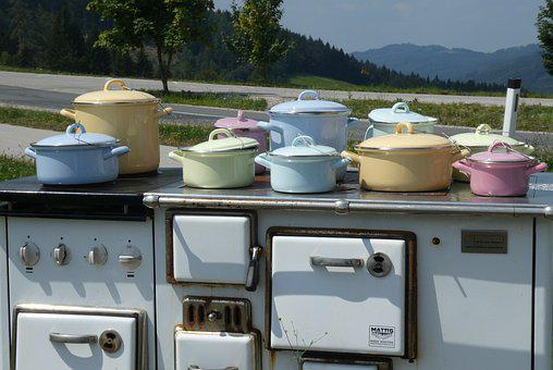 Stove, Cooking, Pans, Cookware, Food