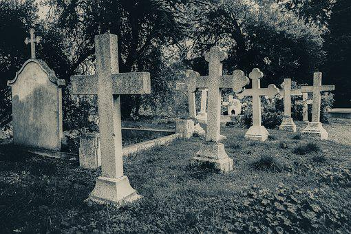 Cemetery, Old, Cross, Stone, Graves