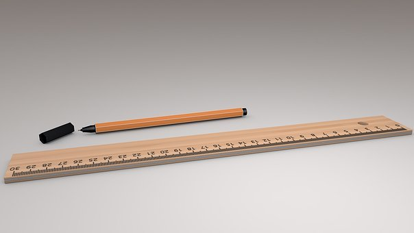 Ruler, Draw, Writing Accessories, Fineliner