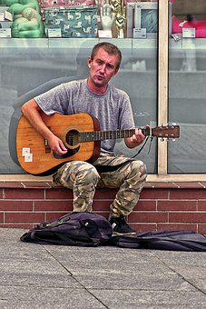 Musician, Street Music, Guitar, Man, Music