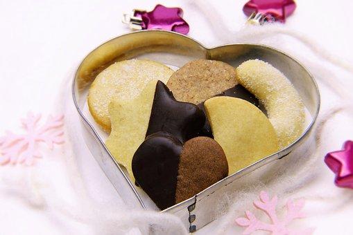 Christmas Cookies, Heart, Cookie Cutter, Bake, Cookie