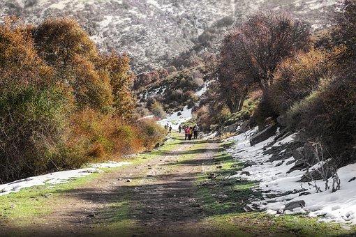 Mountain, Snow, Hiking, Autumn, Lugros, Granada, Scenic