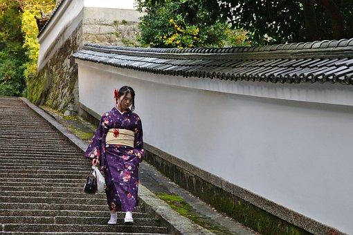 Kyoto, Kimono, Japan, Gion, Girl