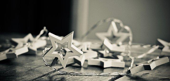 Lights, Stars, Christmas Lights, Christmas, Decorations