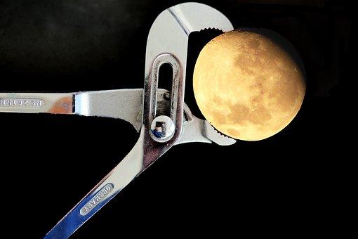 Moon, Decreasing Moon, Luna, Dreiviertelmond