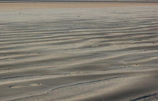 Sand, Waves, Beach, Grain, Shore, Nature, Side, Shadows