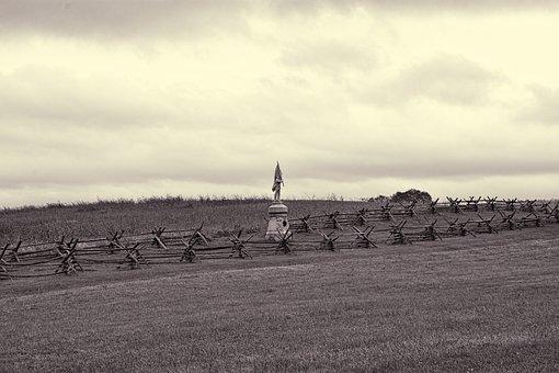 Gettysburg, Park, Historic, Battlefield, Landscape