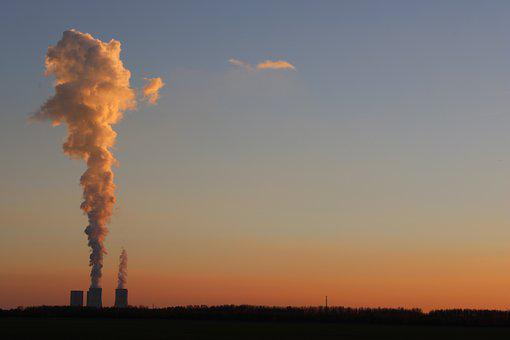 Lips Village, Power Plant, Saxony, Pollution, Clouds