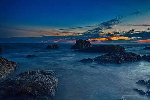 Vietnam, Sunset, Nature, Sky, Sea, Landscape, Travel