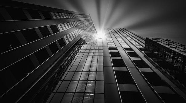 Skyscraper, Sun, Sun Rays, Modern, Architecture