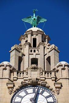 Liver Bird, Liver Building, Clock, Building, Tower