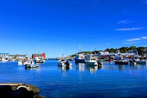 Boats, Harbour, Harbor, Ocean, Water, United States