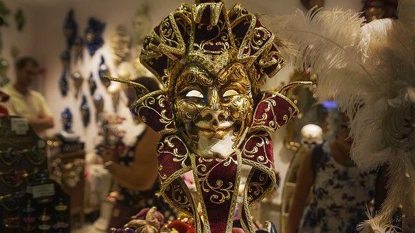 Italy, Venice, Carnival, Masks