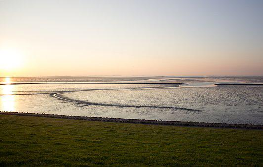North Sea, Wadden Sea, East Frisia, Water, Coast, Sea