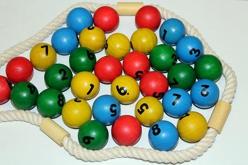 Balls, Wooden, Education, School, Kindergarten