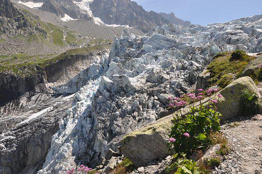 Alps, Mountains, Glacier, Rugged, Ice