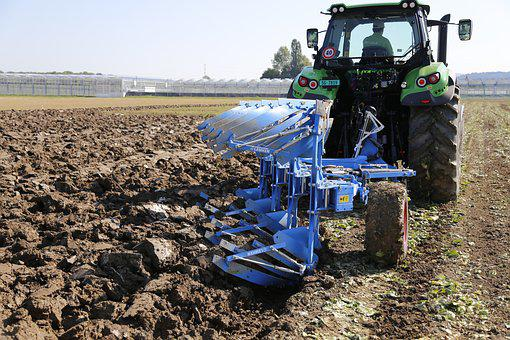 Tractor, Plough, Arable, Agriculture, Plow, Farm